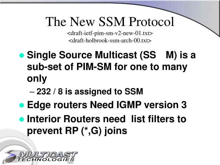 The New SSM Protocol