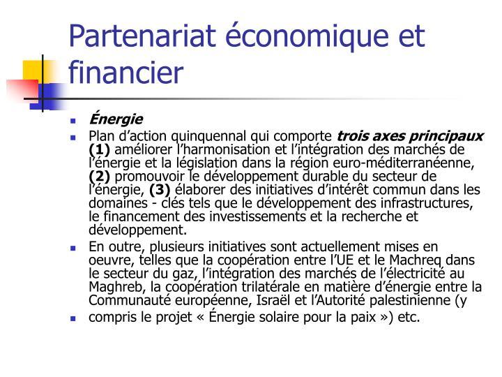 Partenariat économique et financier