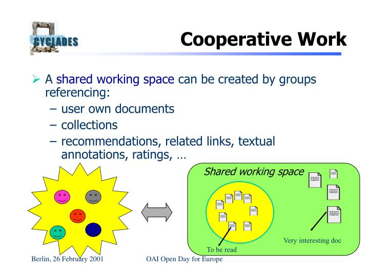 Shared working space