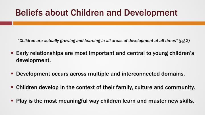 Beliefs about Children and Development