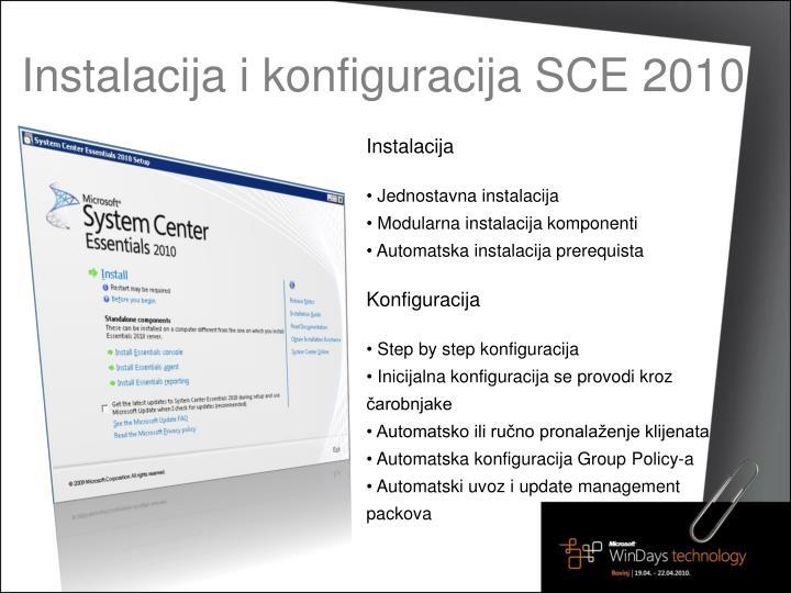 Instalacija i konfiguracija SCE 2010