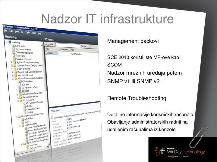 Nadzor IT infrastrukture