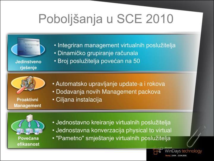 Poboljšanja u SCE 2010