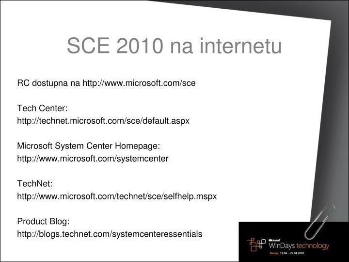 SCE 2010 na internetu