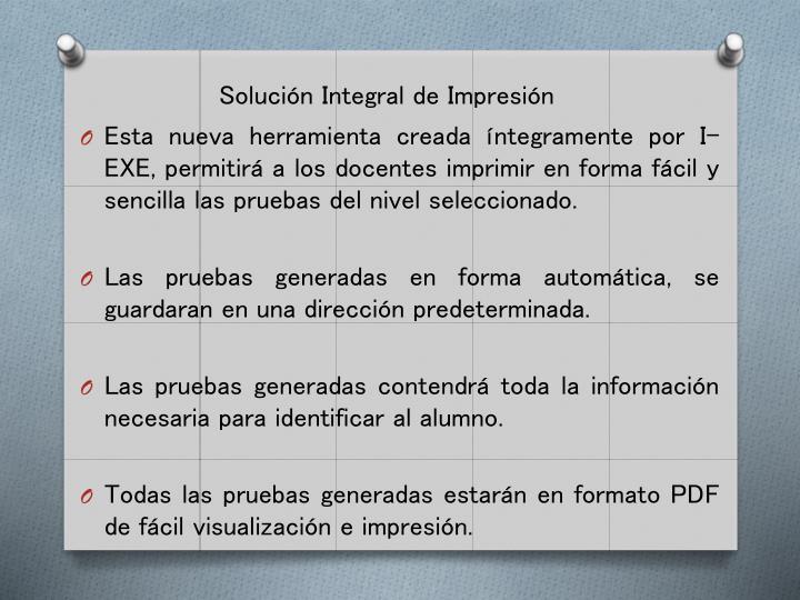 Solución Integral de Impresión
