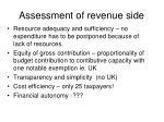 assessment of revenue side
