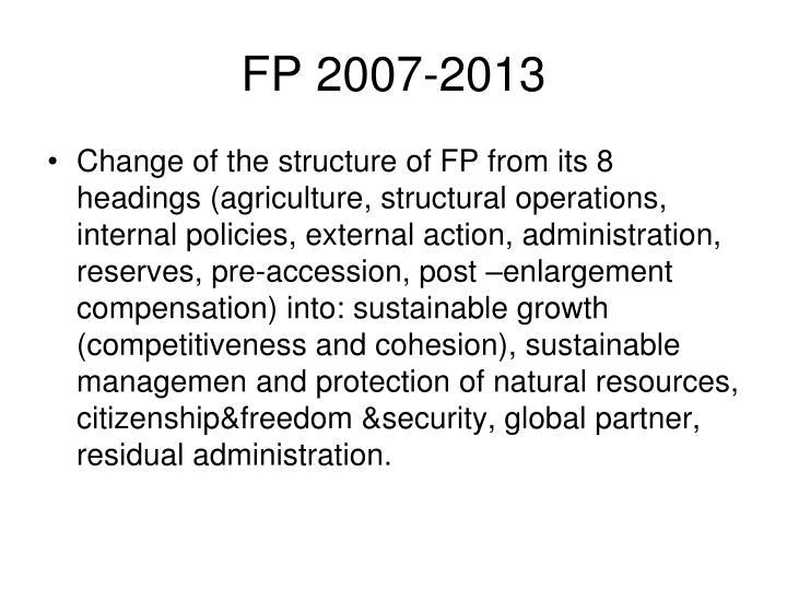 FP 2007-2013