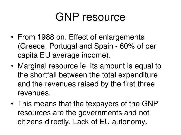GNP resource