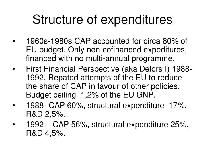 Structure of expenditures