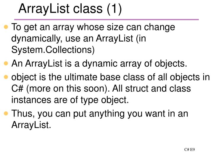 ArrayList class (1)