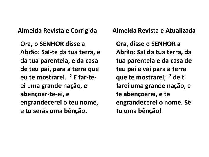 Almeida Revista e Corrigida