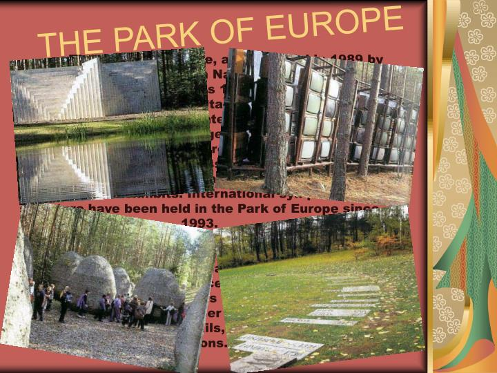 THE PARK OF EUROPE