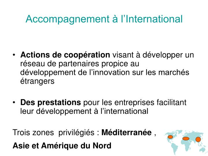 Accompagnement à l'International