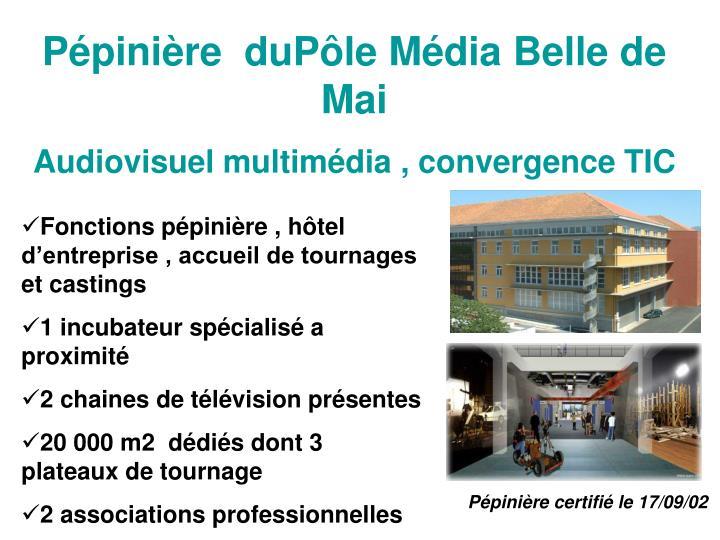 Pépinière  duPôle Média Belle de Mai