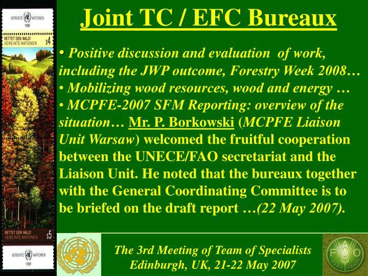 Joint TC / EFC Bureaux
