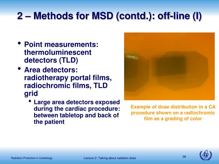 2 – Methods for MSD (contd.): off-line (I)