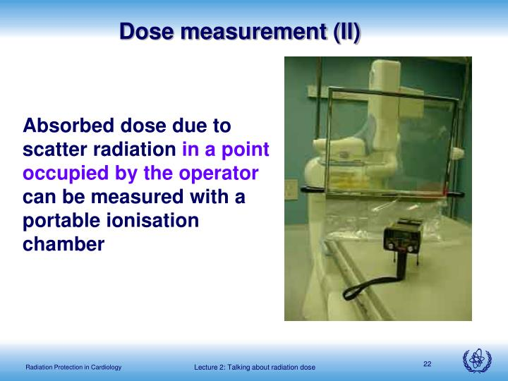 Dose measurement (II)