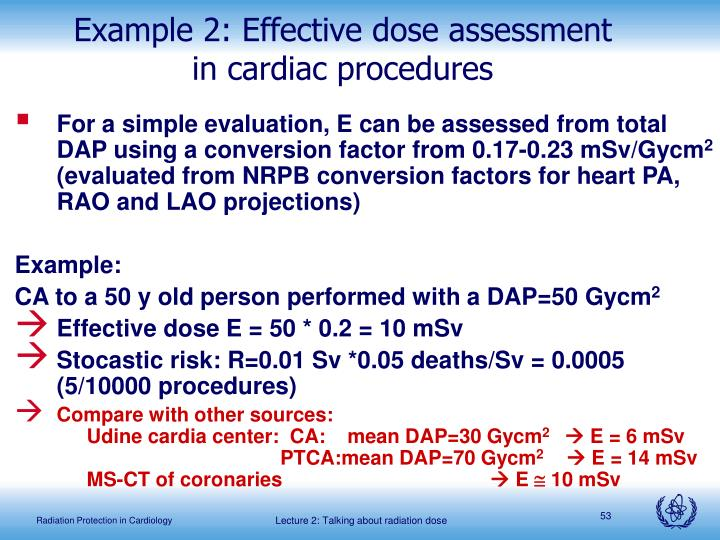 Example 2: Effective dose