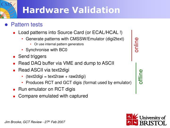 Hardware Validation
