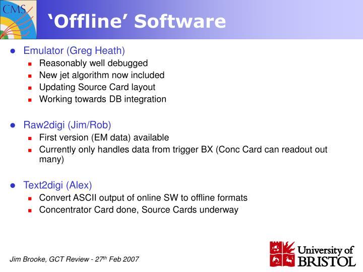 'Offline' Software