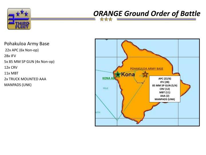 ORANGE Ground Order of Battle