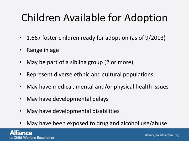 Children Available for Adoption