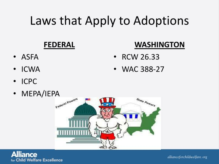 Laws that Apply to Adoptions