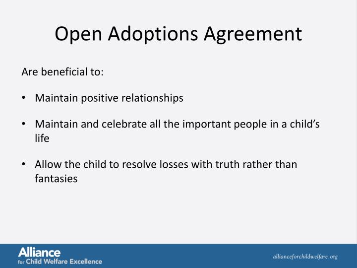 Open Adoptions Agreement