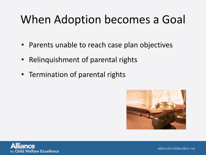 When Adoption becomes a Goal