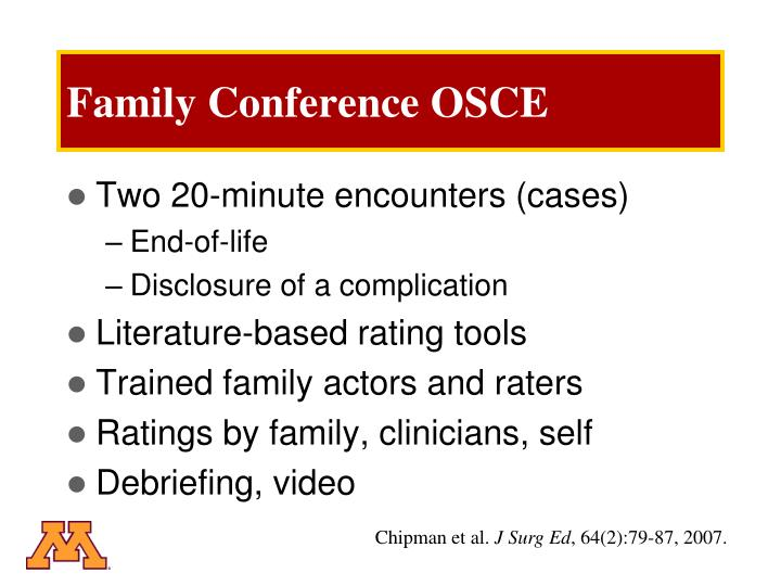 Family Conference OSCE
