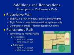 additions and renovations prescriptive or performance path