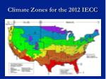 climate zones for the 2012 iecc