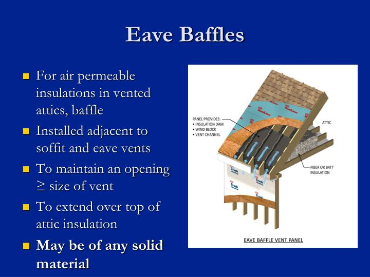 Eave Baffles