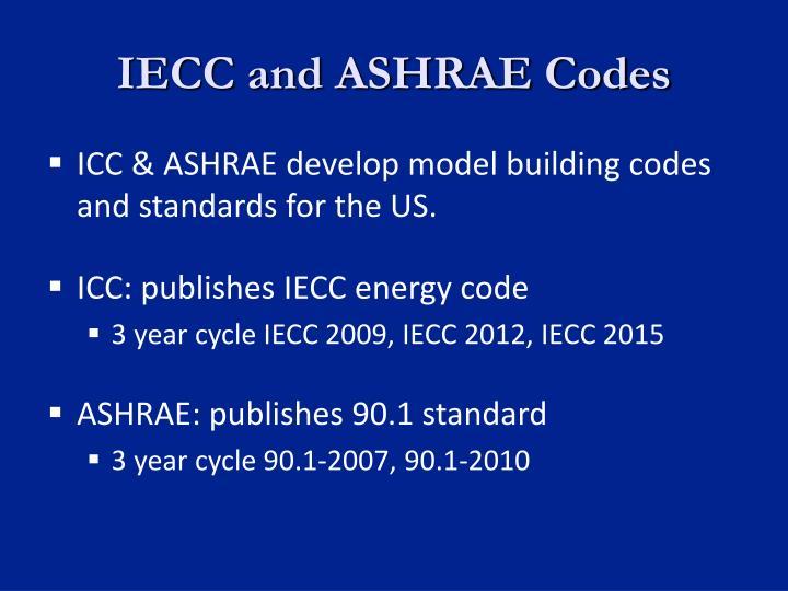IECC and ASHRAE Codes