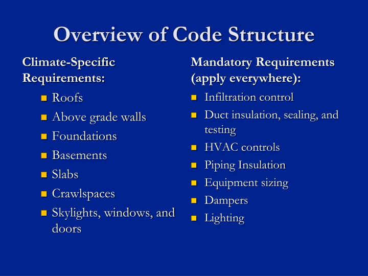 Overview of Code Structure