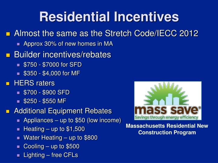 Residential Incentives