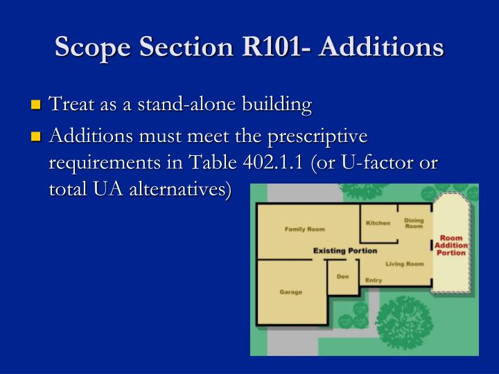 Scope Section R101- Additions