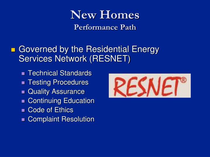 Governed by the Residential Energy Services Network (RESNET)
