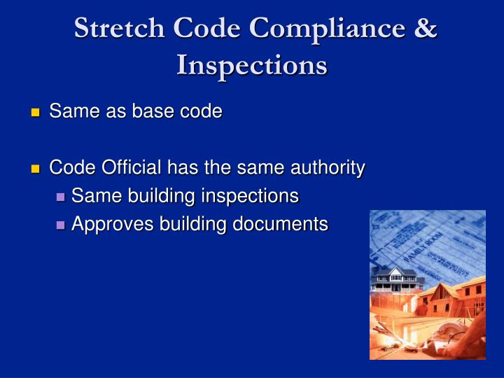 Stretch Code Compliance & Inspections