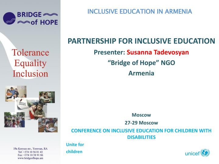 INCLUSIVE EDUCATION IN ARMENIA