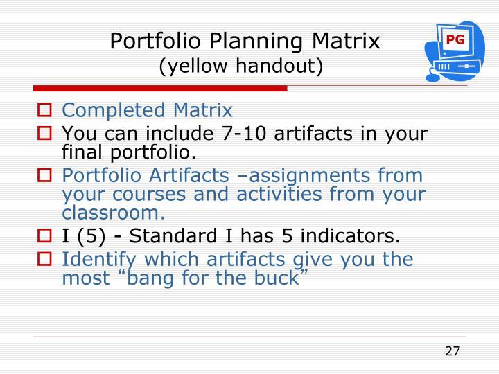 Portfolio Planning Matrix