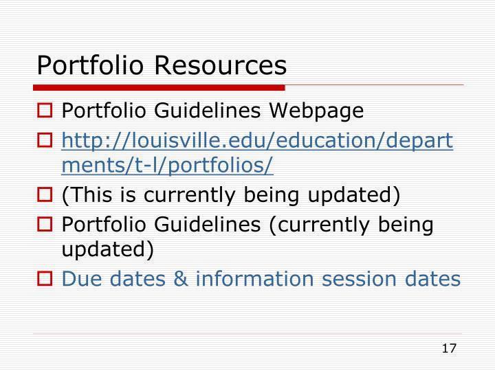Portfolio Resources