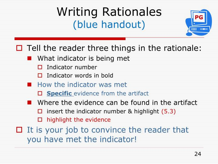 Writing Rationales