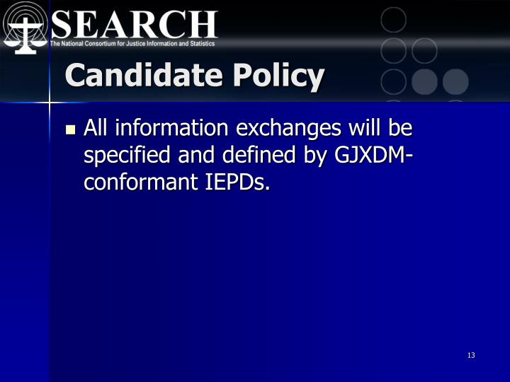 Candidate Policy