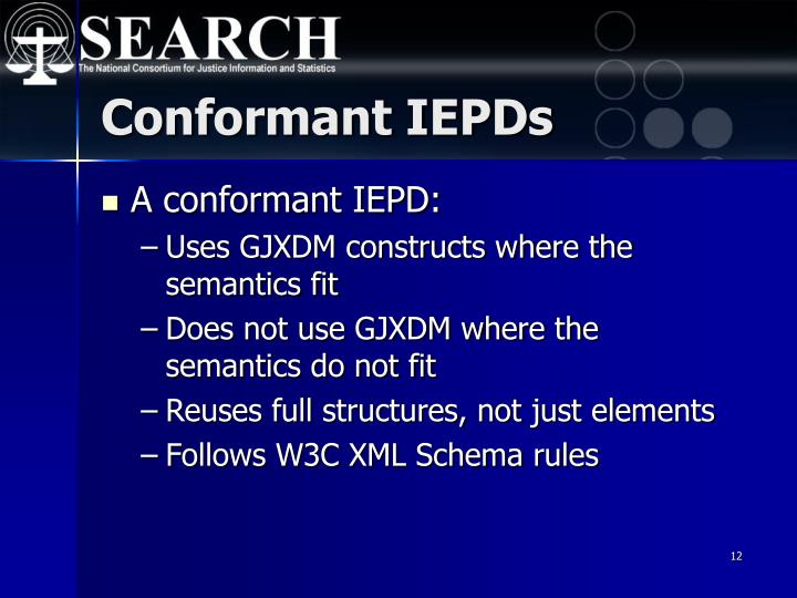 Conformant IEPDs