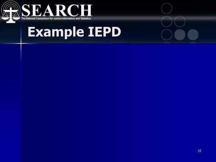 Example IEPD