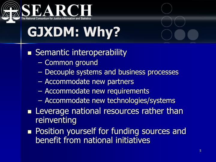 GJXDM: Why?