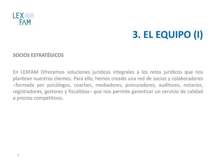3. EL EQUIPO (I)