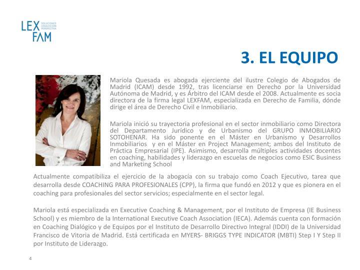 3. EL EQUIPO