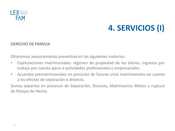 4. SERVICIOS (I)
